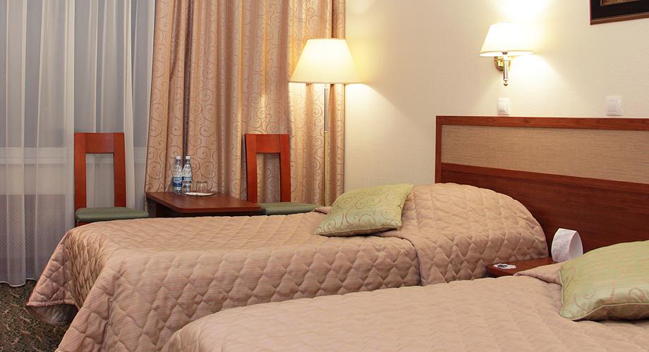 Комфортный номер первого класса в гостинице Дельта